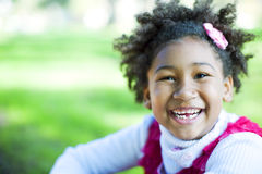 Happy african american girl Royalty Free Stock Images