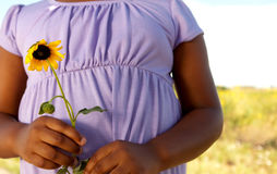 Happy African American girl smiling outside. Royalty Free Stock Photos