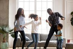 Free Happy African American Having Fun Together Indoors Stock Photos - 132833433