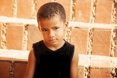 Happy african american little boy Royalty Free Stock Image