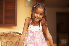 Happy african american little girl portrait Stock Images
