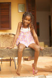 Happy african american little girl portrait Stock Image