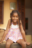 Happy african american little girl portrait Royalty Free Stock Photography
