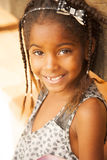 Happy african american little girl portrait Stock Photos
