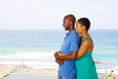 Happy african american love couple Stock Image