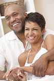Happy African American Man & Woman Couple Royalty Free Stock Photo