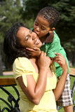 Happy African American Mother and Child Royalty Free Stock Photos