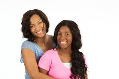 African American mother and her daugher. Royalty Free Stock Images