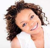 Happy African American woman Royalty Free Stock Photo