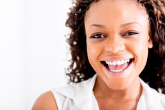 Happy African American woman Royalty Free Stock Photos
