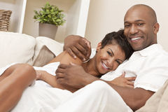 Happy African American Woman Romantic Couple Stock Photography
