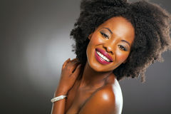 Happy african beauty Royalty Free Stock Image