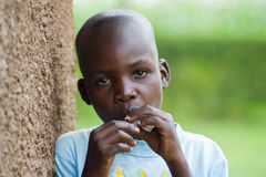 Happy African boy Stock Images