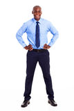 Happy african businessman Stock Photography
