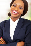 Happy african businesswoman Stock Photos