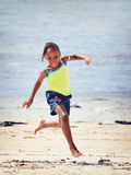 Happy African Child at Beach Royalty Free Stock Photos