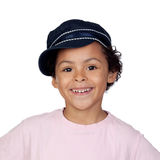 Happy african child with a cap Royalty Free Stock Photos