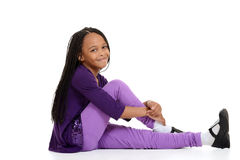 Happy african child sitting Royalty Free Stock Photos