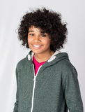 Happy African Decent Child. With Afro Hair Style Stock Image