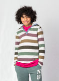 Happy African Decent Child. With Afro Hair Style Stock Photography