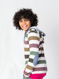 Happy African Decent Child. With Afro Hair Style Stock Photo