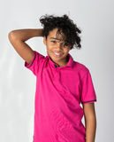 Happy African Decent Child. With Afro Hair Style Stock Images