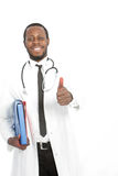 Happy African doctor giving a thumbs up Royalty Free Stock Images
