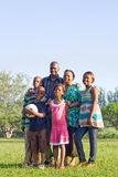 Happy african family. Happy african american family play outdoors Stock Photos