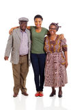 Happy african family Stock Photos