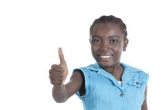 Happy african girl thumb up Royalty Free Stock Photography