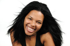 Happy african hispanic girl royalty free stock photos