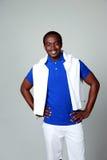 Happy african man standing Stock Photo