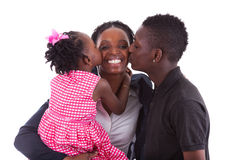 Happy african mother with her children's Royalty Free Stock Photos