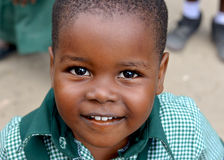 Happy African Schoolkid Stock Image