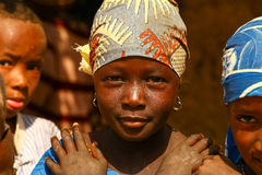 Happy African Village Children Royalty Free Stock Image