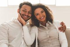 Happy Afro American couple Stock Photos