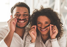 Happy Afro American couple royalty free stock images