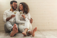 Happy Afro American couple Stock Image
