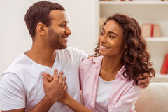 Happy Afro-American couple stock photography