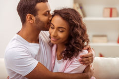 Happy Afro-American couple Royalty Free Stock Photo