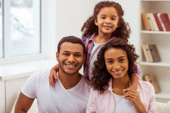 Happy Afro-American family Stock Images