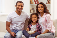 Happy Afro-American family Royalty Free Stock Photos