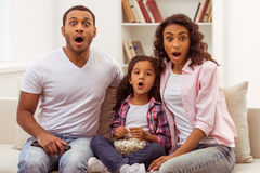 Happy Afro-American family Royalty Free Stock Photo