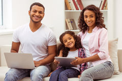 Happy Afro-American family Royalty Free Stock Image