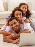 Happy Afro-American family Stock Photography