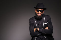 Happy afro american man in fashion cloth Stock Image