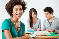 Happy Afro American Student Royalty Free Stock Image