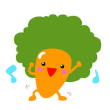 Happy afro carrot dancing with music  Royalty Free Stock Photos