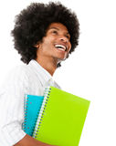 Happy afro student Royalty Free Stock Image