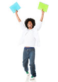 Happy afro student Royalty Free Stock Photography
